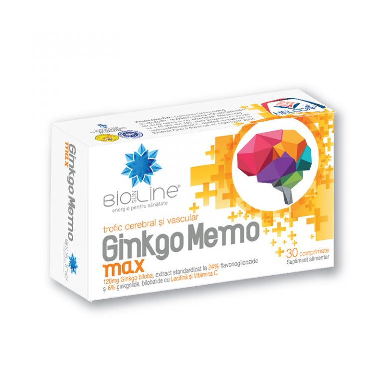 pastile de memorie Ginkgo Memo Max