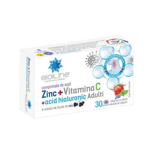 Zinc cu vitamina C si acid hialuronic adulti