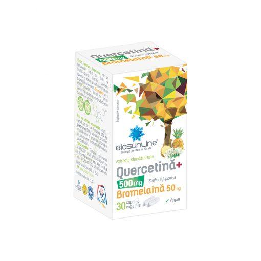 Quercetina 500 mg Plus Bromelaina